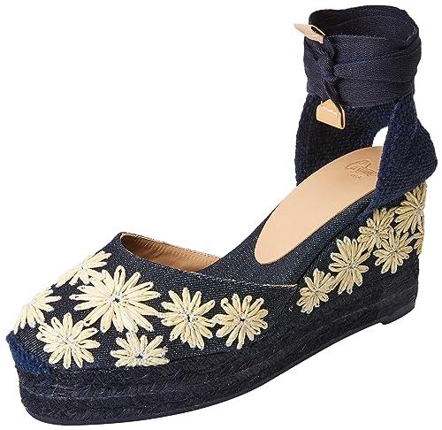 Castañer Carina6Edss18038, Alpargatas para Mujer, Azul (Dark Blue 302), 38 EU: Amazon.es: Zapatos y complementos