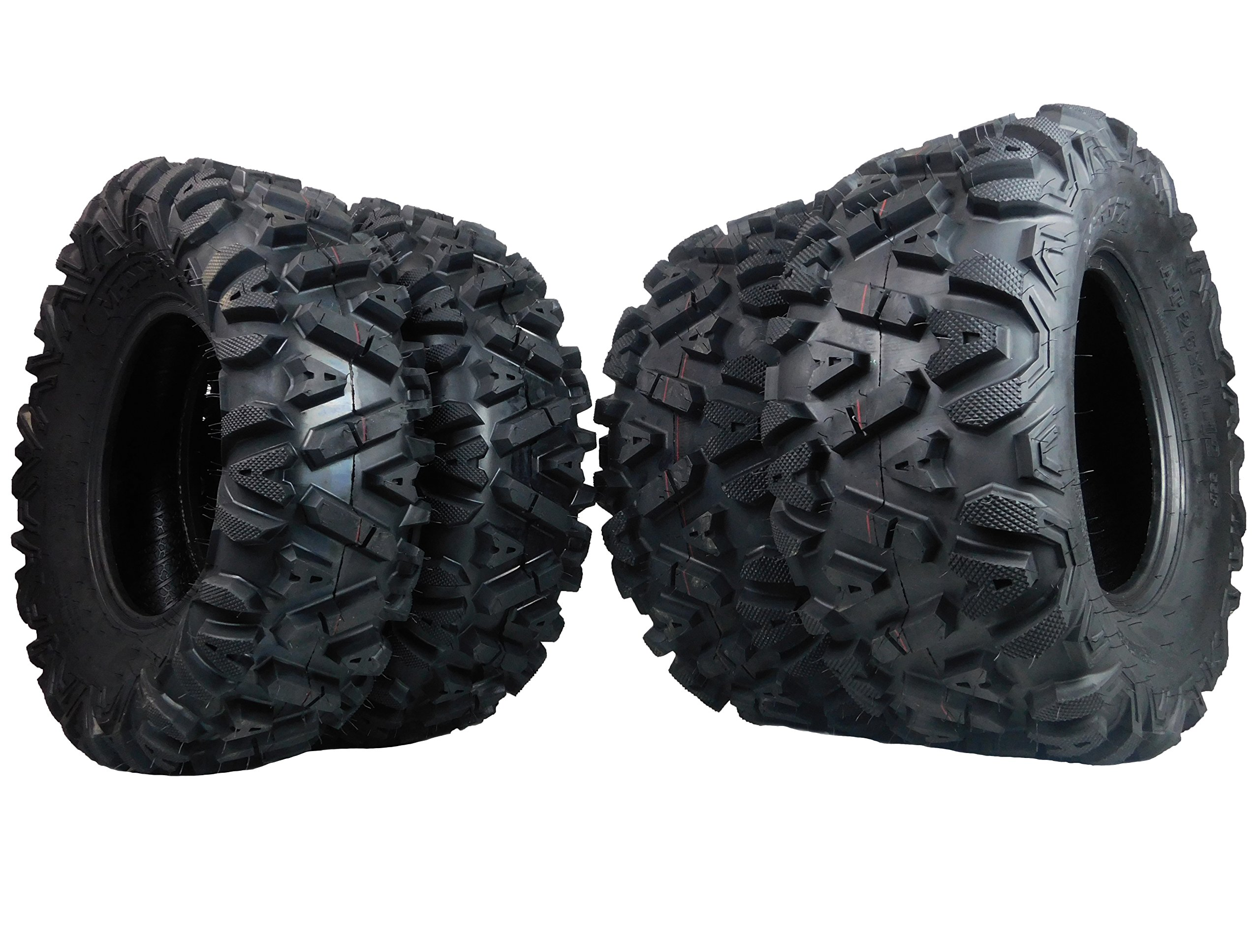 FOUR 26x9-12 26x11-12 KT MASSFX big TIRE SET FOUR ATV TIRES SIX PLY 26'' horn by MASSFX