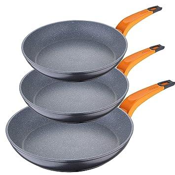 San Ignacio PK1282 Lava Set de sartenes 20/24/28 cms, aluminio forjado