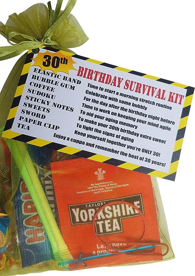 30th cumpleaños kit de supervivencia una pipa de regalo/presente – un divertido Cheeky Regalo para hacer su sonrisa: Amazon.es: Oficina y papelería