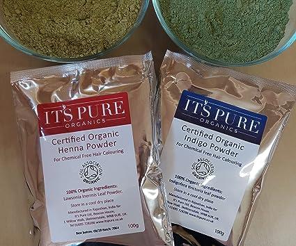 Tinte de pelo natural – Color de pelo orgánico Henna & Indigo 200 g