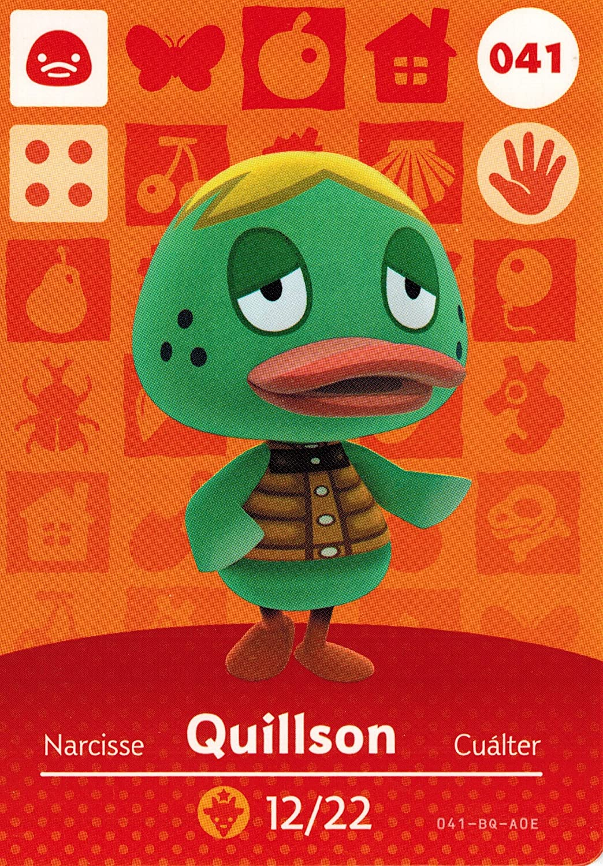Animal Crossing Happy Home Designer amiibo tarjeta quillson ...