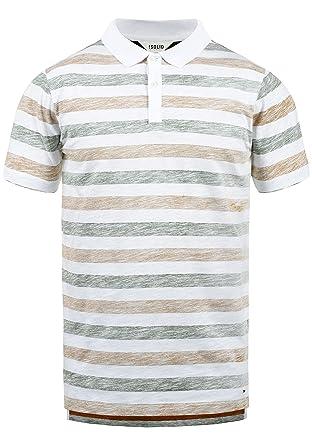 Solid Teto Camiseta Polo De Manga Corta para Hombre con Cuello De ...
