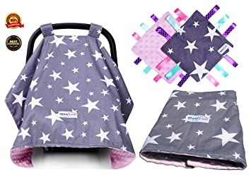 Premium 4 In 1 Baby Car Seat Cover For Girls Extra Large Multi