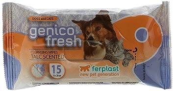 Ferplast toallitas Genico Fresh perro/gatos Talc X15 – – Juego ...