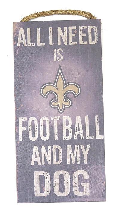 Amazon.com : New Orleans saints Wall decor Wood plaque football ...