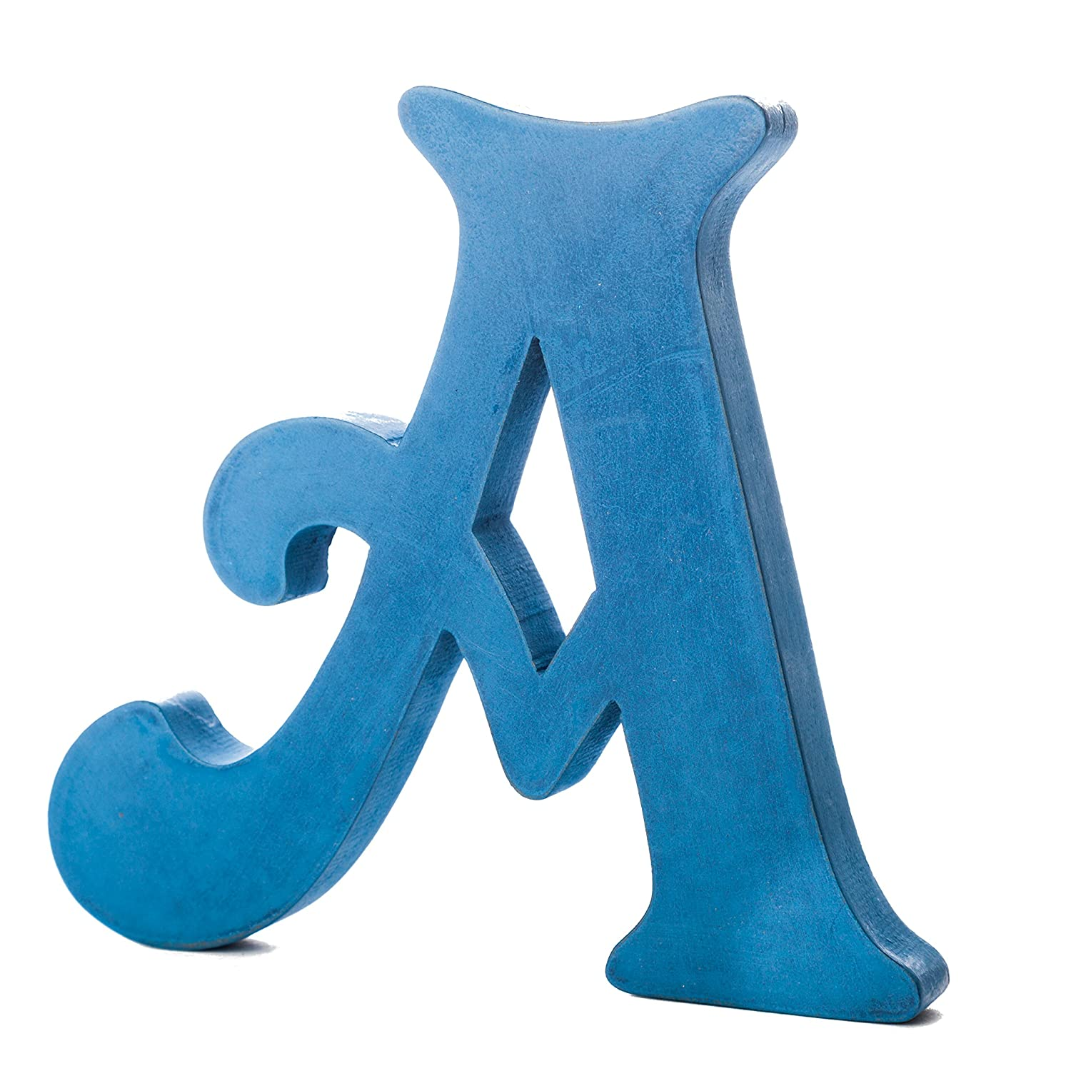 Letter-O-Holic Wood Free-Standing Letter A (Blue)
