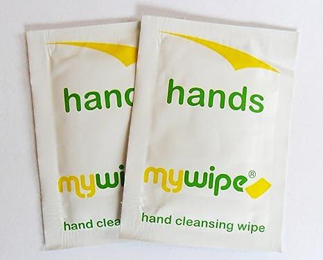 MYWIPE y Catering individual ventilar refrescante toallitas húmedas para limpiarse las manos sobres x 1000