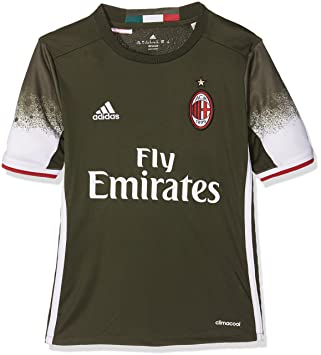 Adidas 3 JSY Y Camiseta 3ª Equipación AC Milán 2015/16, Niño: Amazon.es: Deportes y aire libre