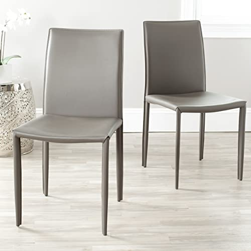 Safavieh Home Collection Karna Modern Grey Dining Chair Set of 2