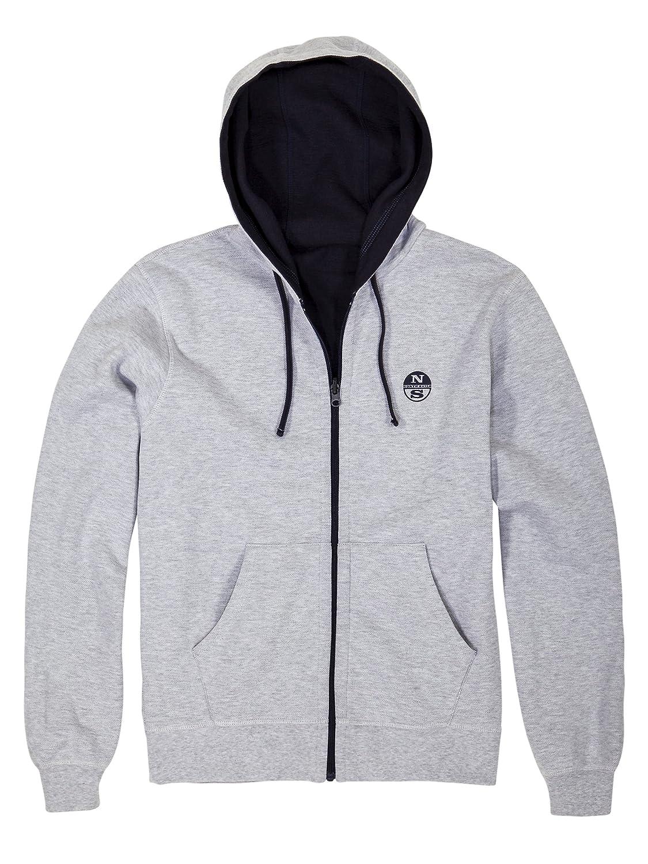 North Sails Reversible Full Zip Hoodie Sweatshirt mit Kapuze