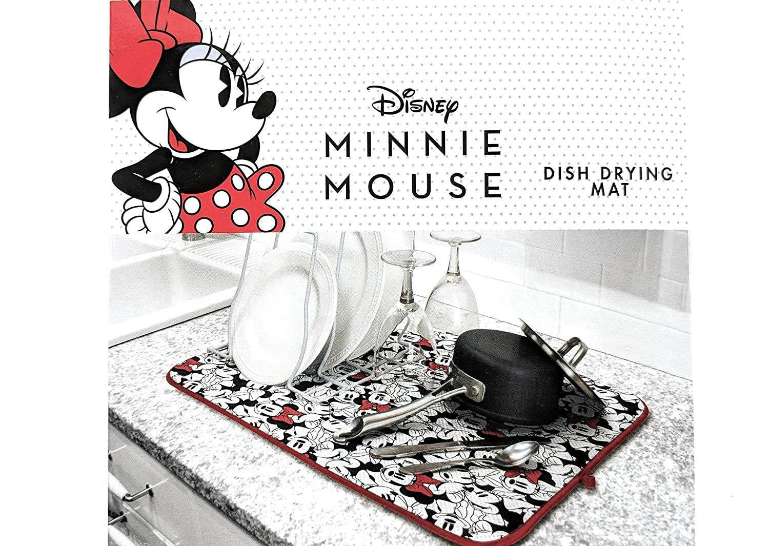 Minnie Mouse Dish Drying Mat, 16 x 18 inches
