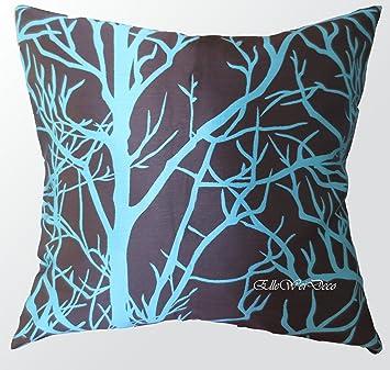 Amazoncom Elleweideco Modern Brown and Cyan Blue Tree Branch
