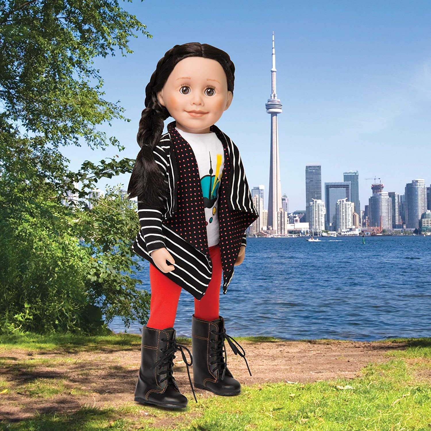 Maplelea Art of The City Sweater and Leggings Outfit for 18 Inch Dolls