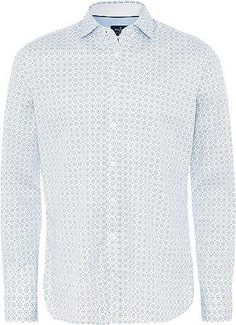 Hackett - Camiseta para hombre con diseño de baldosas finas, color blanco: Amazon.es: Ropa y accesorios