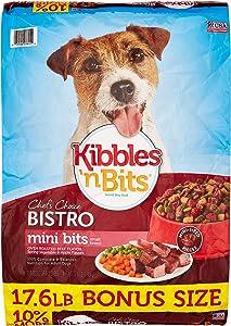 Bistro Mini Bits Oven Roasted Beef, Vegetable & Apple Small Breed Bonus Bag Dry Dog Food, 17.6 Lb (1)