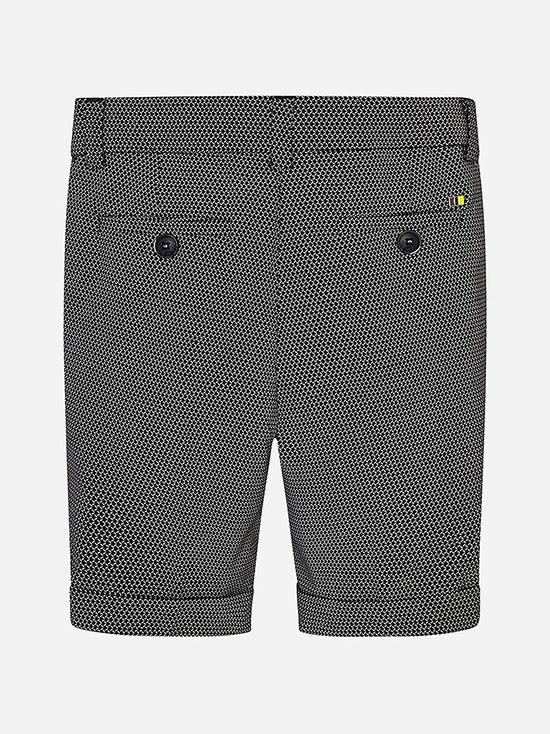 3225 Mayoral Printed Tailored Linen Shorts for Boys