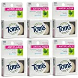 Tom's of Maine Natural Waxed Antiplaque Flat Floss, Spearmint, 32-Yards, pack of 6