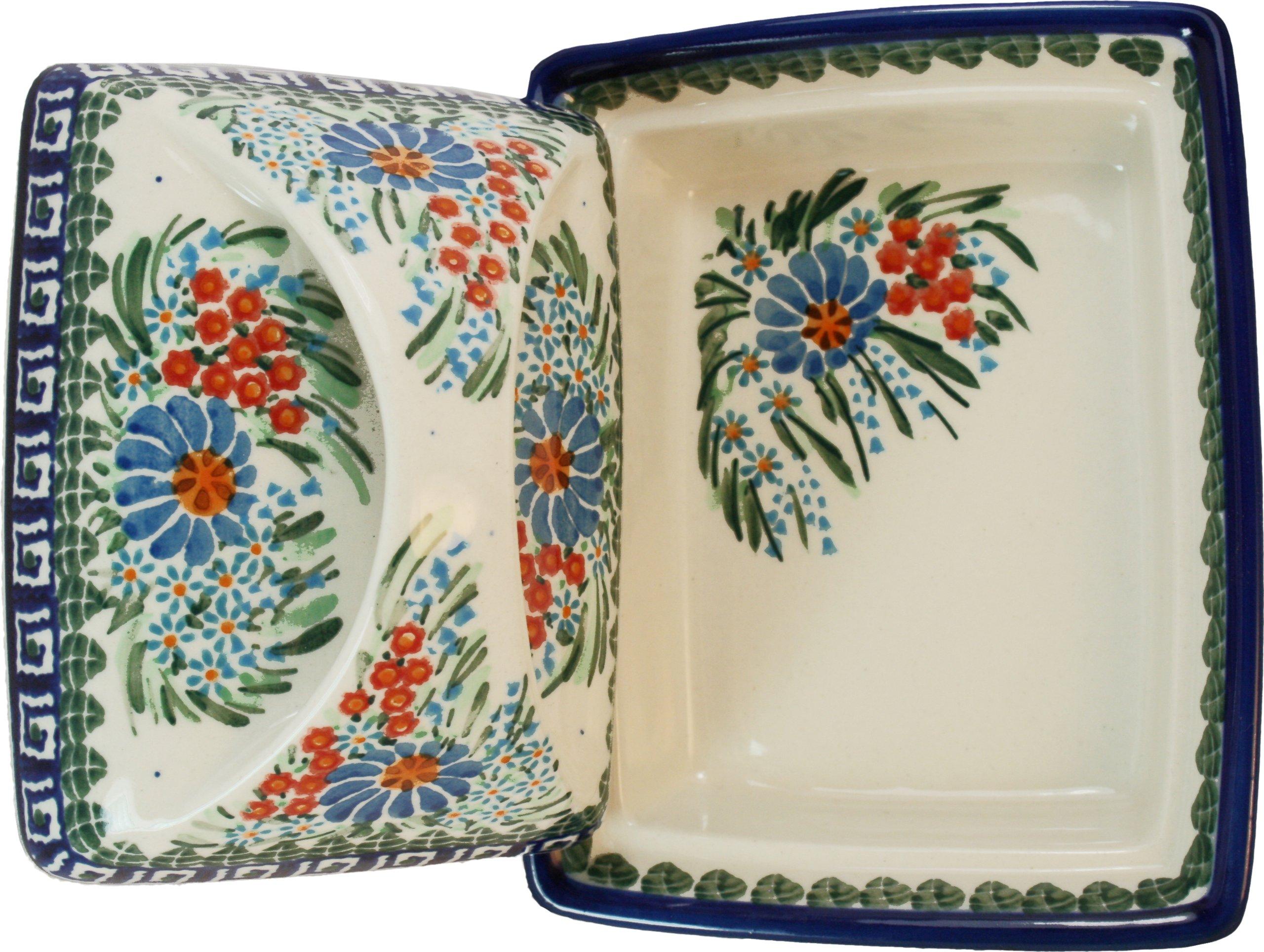 Polish Pottery Ceramika Boleslawiec 0352/169 Butter Deep Dish, 2 Cubes by Polish Pottery Ceramika Boleslawiec (Image #2)