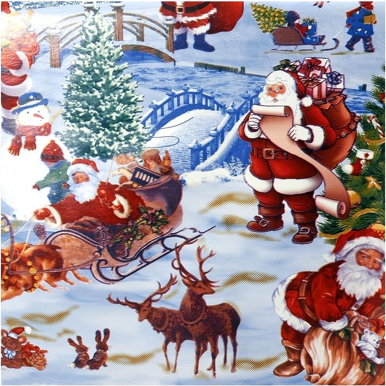 Pflegeleicht Schmutzabweisend Abwaschbar Weihnachten Weiss Motive 50x 140 cm Gr/ö/ße w/ählbar WACHSTUCH Tischdecken Gartentischdecke mit Fleecer/ücken Gartentischdecke