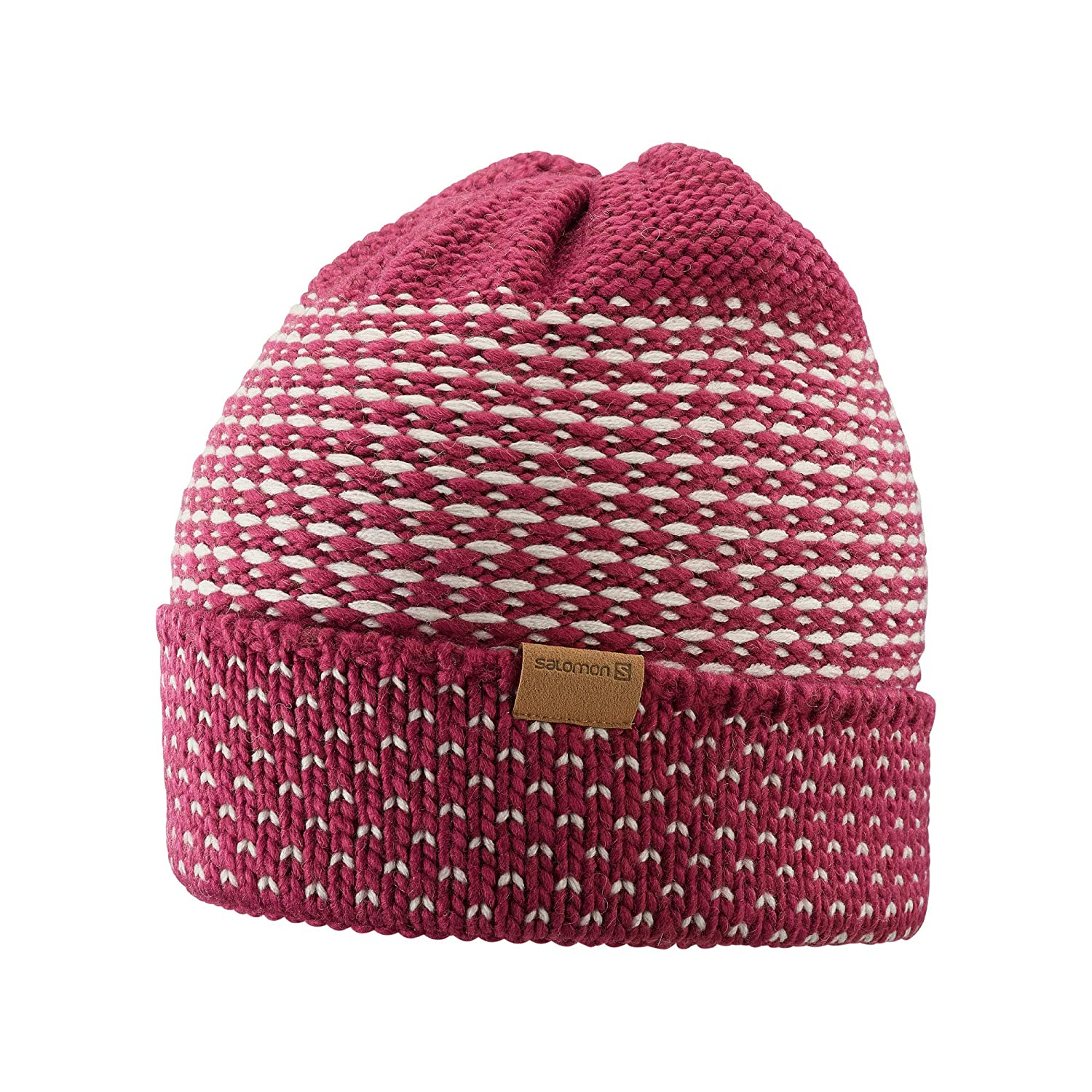 2d358a91 Amazon.com: Salomon Laura Beanie Cold Weather Hats, Beet Red/Rainy Day, One  Size: Sports & Outdoors