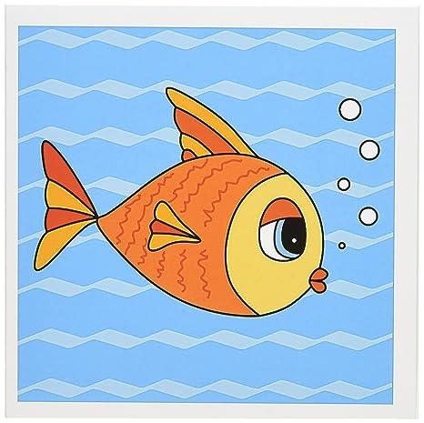 Amazon 3drose go fish goldfish design greeting cards 6 x 3drose go fish goldfish design greeting cards 6 x 6 inches set m4hsunfo