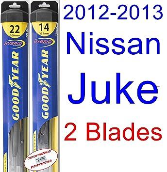 2012 - 2013 Nissan Juke hoja de limpiaparabrisas de repuesto Set/Kit (Goodyear limpiaparabrisas blades-hybrid): Amazon.es: Coche y moto