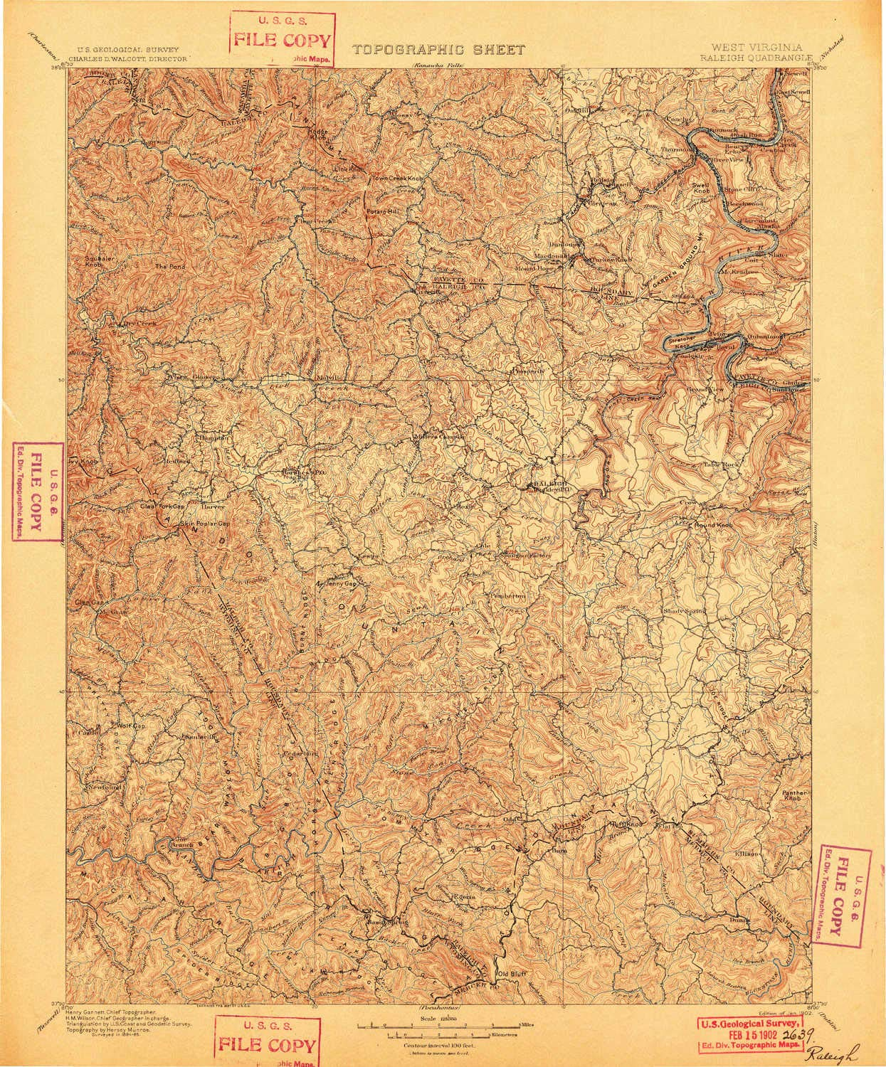 Topography Map Of Us.Amazon Com Yellowmaps Raleigh Wv Topo Map 1 125000 Scale 30 X 30