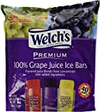 Welch's 100 % Grape Juice Ice Bars, 40 Count