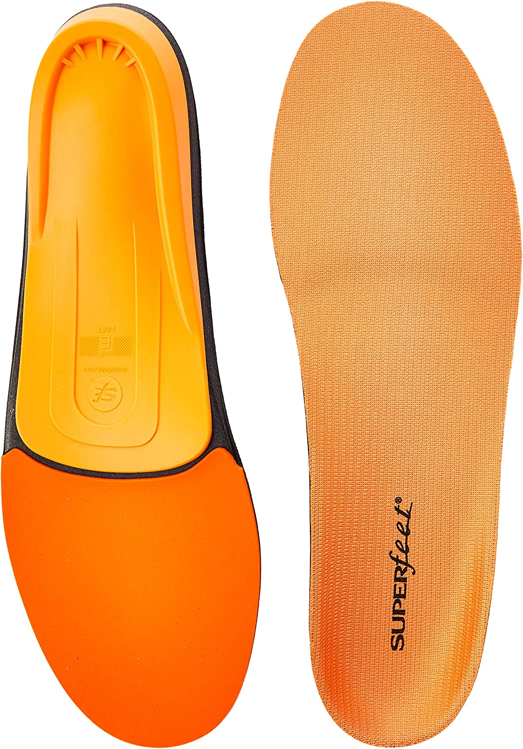 B000KHTGUI Superfeet ORANGE Insoles, High Arch Support and Forefoot Cushion, Orthotic Shoe Inserts for Anti-fatigue, Unisex, Orange 91TQySjnuiL
