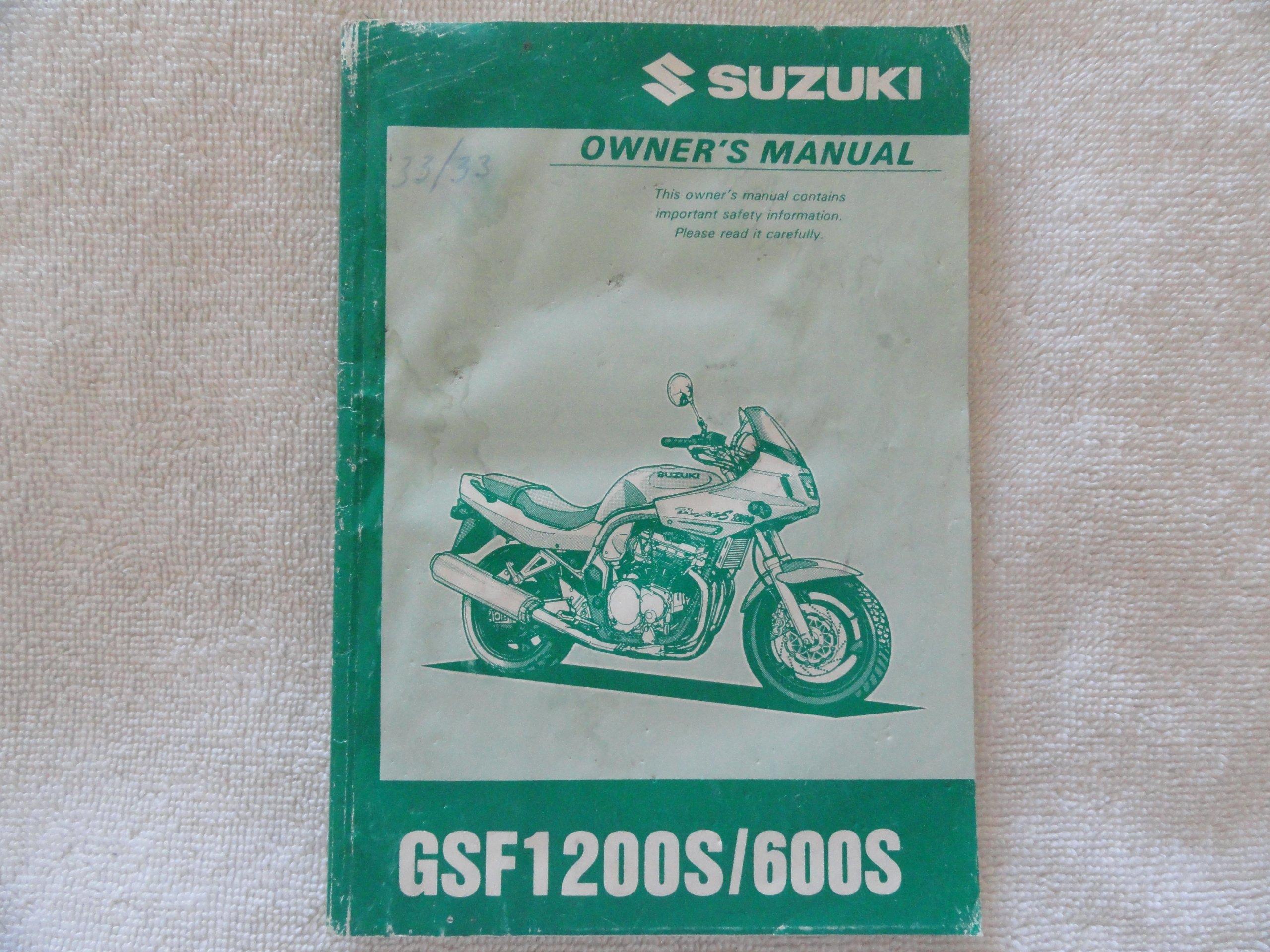 1996 1997 Suzuki GSF1200 Owners Manual GSF 1200 600 S: Suzuki: Amazon.com:  Books