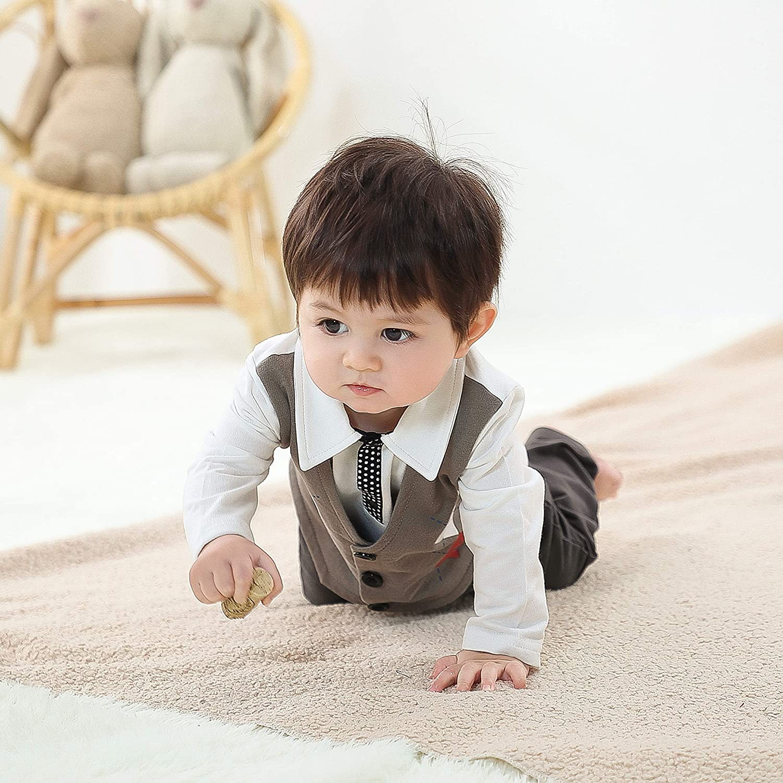 COTTON FAIRY Baby Boy Gentleman Romper