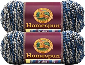 Bulk Buy: Lion Brand Homespun Yarn (2-Pack) (Blue Moon #790-602)