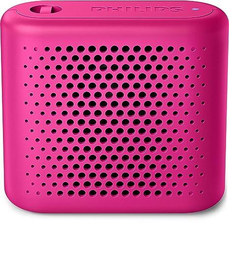 Philips BT55P - Mini Altavoz Bluetooth inalámbrico portatil, Compatible con Smartphones, iPhone, Android