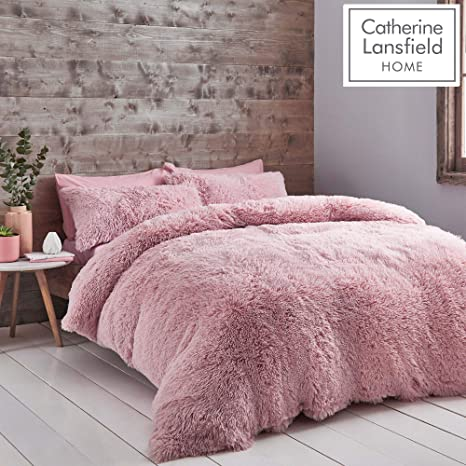 Grey King Size Supersoft Feel Cuddle Fleece Duvet Set Cosy Winter Warm