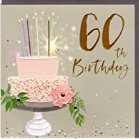 Bellybutton Designs alta calidad tarjeta de felicitación para 60 cumpleaños redondos de la nueva serie Elle