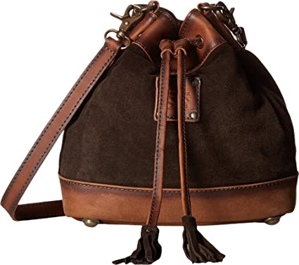6ab89d5d392 STS Ranchwear Women s Heritage Bucket Bag Chocolate Suede Tornado Brown One  Size