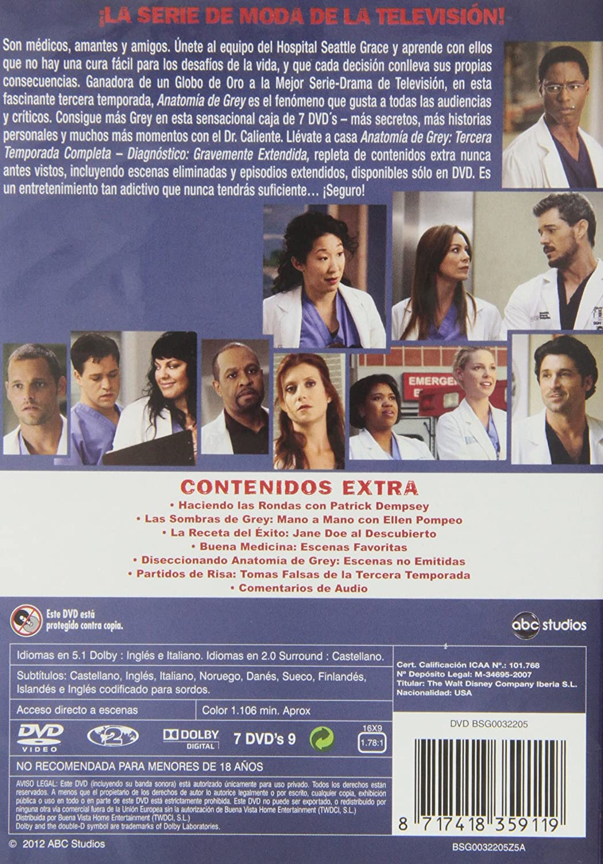 Anatomía de Grey - Temporada 3: DVD & Blu-ray : Amazon.fr