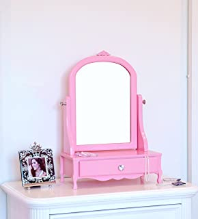 Frenchi Home Furnishing Mill Valley Vanity With Mirror, Pink