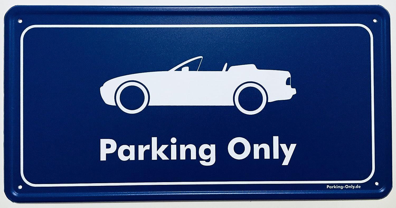 Parkplatz Aluminium Schild Parking-Only Porsche 944 Cabrio