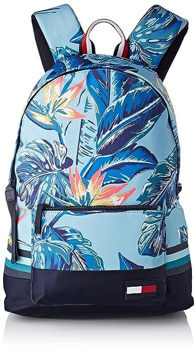 Tommy Hilfiger - Escape Backpack Floral, Mochilas Hombre, Azul (Floral Print),