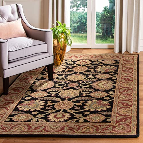 Safavieh Classic Collection CL359A Handmade Traditional Oriental Navy and Red Wool Area Rug 4 x 6