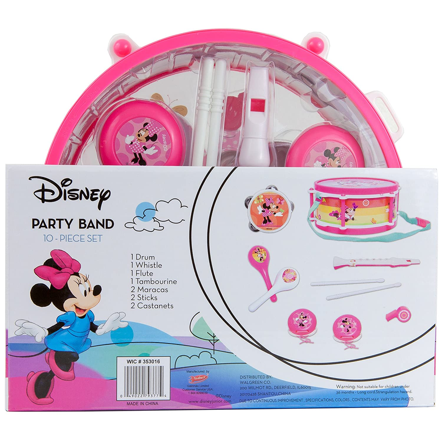 Amazon.com: Disney Minnie Mouse Clubhouse Party Band 10 piece Set ...