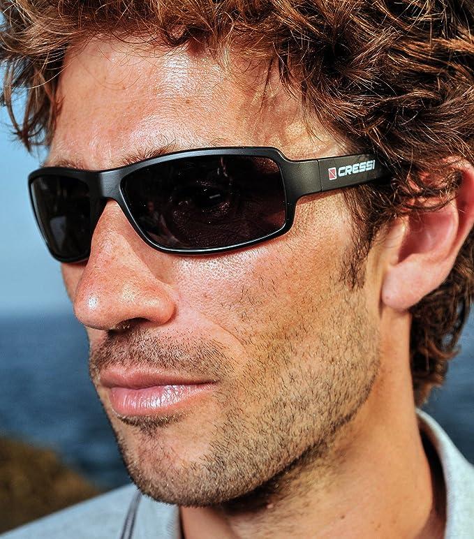Cressi Sonnenbrillen Ninja Floating Blue with MIRORED Lens - Gafas de Ciclismo