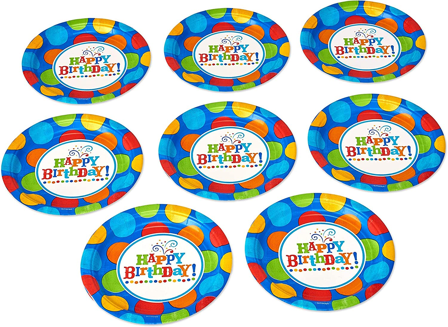 Paper Lunch Napkins American Greetings Birthday Fever Fun Party Supplies 16-Count