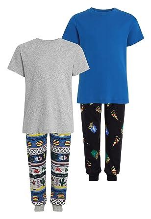next Niños Pack De Dos Pijamas con Pantalón De Chándal Y Estampado ...