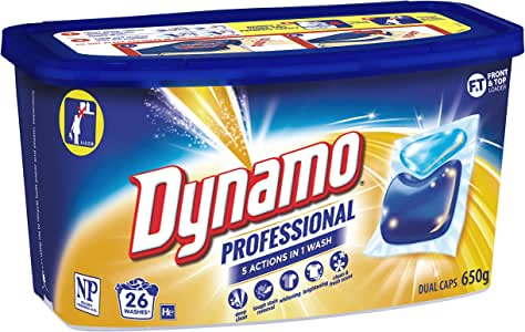 Dynamo Professional Laundry Detergent Capsules, 26 Pack, 26 Capsules (2443013)