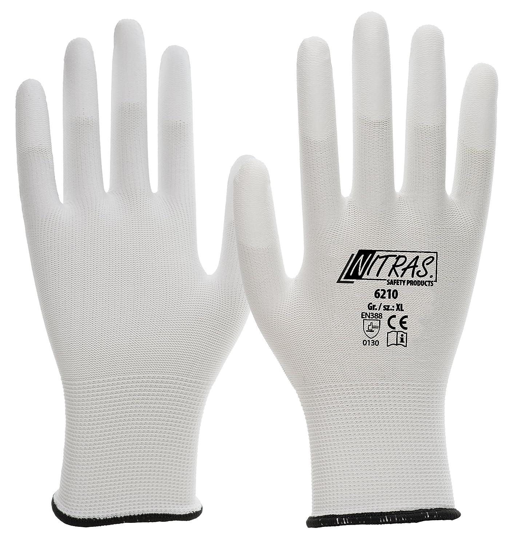 240 Paar NITRAS Nylon-PU-Fingerkuppen, weiß-weiß XL Grösse XL