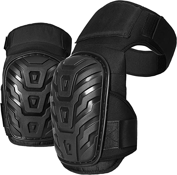 Professional Knee Pads for Work - Heavy Duty Foam Padding Kneepads for Construction, Gardening, Flooring with Comfortable Gel Cushion to Save Your Knees (Thigh High) - - Amazon.com