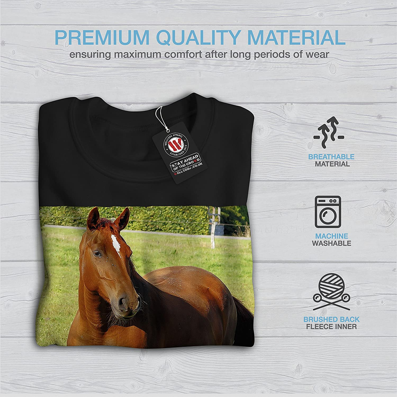 Strong Casual Jumper wellcoda Horse Wild Photo Mens Sweatshirt